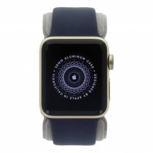 Apple Watch Series 2 Aluminiumgehäuse gold 38mm mit Sportarmband mitternachtsblau aluminium gold