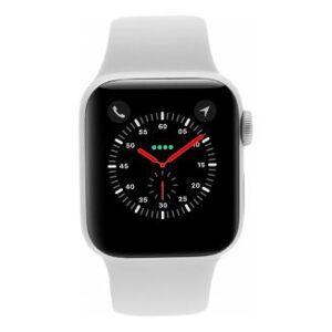 Apple Watch Series 4 Aluminiumgehäuse silber 44mm mit Sportarmband weiss (GPS + Cellular) aluminium silber