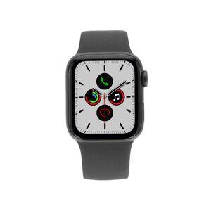 Apple Gebraucht: Apple Watch Series 5 Aluminiumgehäuse grau 40mm mit Sportarmband schwarz (GPS+Cellular)