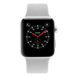 Apple Gebraucht: Apple Watch Series 3 Aluminiumgehäuse silber 42mm mit Sportarmband nebelgrau (GPS + Cellular) aluminium silber