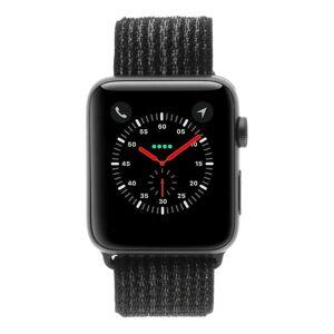 Apple Gebraucht: Apple Watch Series 3 Aluminiumgehäuse grau 42mm mit Sport Loop schwarz (GPS + Cellular) aluminium grau