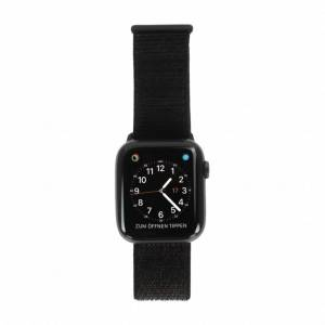 Apple Gebraucht: Apple Watch Series 4 Aluminiumgehäuse grau 44mm mit Sport Loop schwarz (GPS) aluminium grau