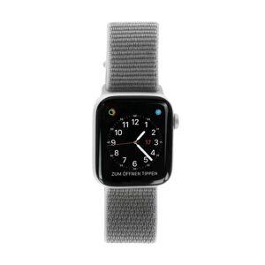 Apple Watch Series 4 Aluminiumgehäuse silber 44mm mit Sport Loop muschelgrau (GPS) aluminium silber refurbished