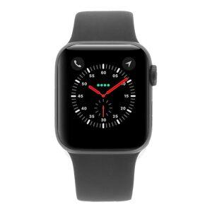 Apple Watch Series 4 Aluminiumgehäuse grau 40mm mit Sportarmband schwarz (GPS) aluminium grau refurbished
