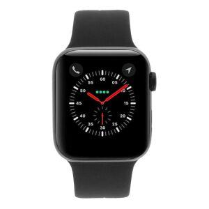 Apple Gebraucht: Apple Watch Series 4 Aluminiumgehäuse grau 44mm mit Sportarmband schwarz (GPS + Cellular) aluminium grau