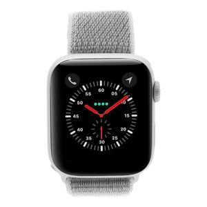 Apple Gebraucht: Apple Watch Series 4 Aluminiumgehäuse silber 44mm mit Sport Loop muschelgrau (GPS + Cellular) aluminium silber
