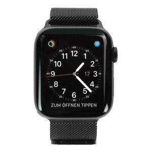 Apple Gebraucht: Apple Watch Series 4 Edelstahl schwarz 44mm mit Milanaise-Armband schwarz (GPS + Cellular) edelstahl spaceschwarz