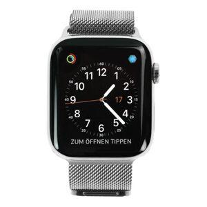 Apple Gebraucht: Apple Watch Series 4 Edelstahl silber 44mm mit Milanaise-Armband silber (GPS + Cellular) edelstahl silber