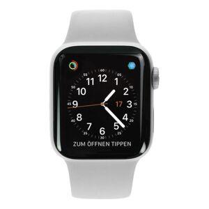 Apple Watch Series 4 Aluminiumgehäuse silber 40mm mit Sportarmband weiß (GPS+Cellular) aluminium silber refurbished