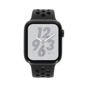 Apple Watch Series 4 Nike+ Aluminiumgehäuse grau 44mm mit Sportarmband anthrazit/schwarz (GPS) aluminium grau refurbished