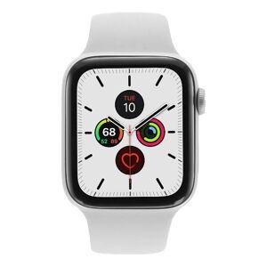 Apple Gebraucht: Apple Watch Series 5 Aluminiumgehäuse silber 44mm mit Sportarmband weiß (GPS + Cellular) silber