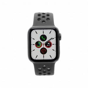 Apple Watch Series 5 Nike+ Aluminiumgehäuse grau 40mm mit Sportarmband schwarz (GPS + Cellular) grau refurbished