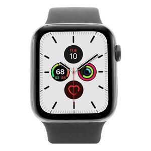 Apple Gebraucht: Apple Watch Series 5 Edelstahlgehäuse black 44mm mit Sportarmband black (GPS + Cellular) schwarz