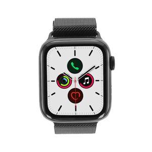 Apple Watch Series 5 Edelstahlgehäuse schwarz 44mm mit Milanaise-Armband spaceschwarz (GPS + Cellular) refurbished