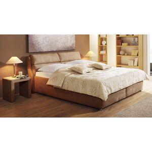 Polsterbett mit Bettkasten - 120x200 cm - braun - Bett Cremona