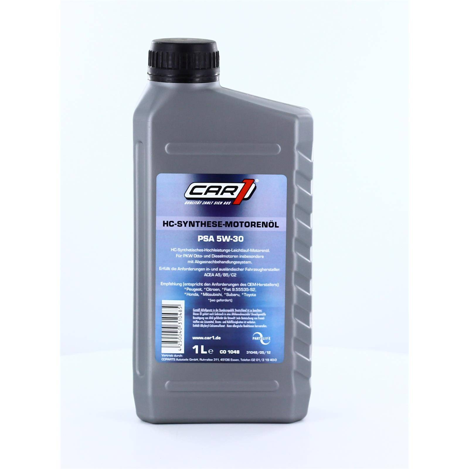 1l Car1 Motoröl, 5w30 Psa Co 1048 Motoröl Leichtlaufmotorenöl Co 1048