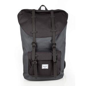 Herschel Little America Backpack #10014 black gridlock/black rubber