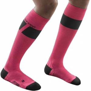 CEP Women Ski Socks Ultralight pink/dark grey 2 pink Damen