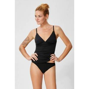 Super NATURAL Unterhemd »W Vivien Rib Top 165«, vorgeformte Cups, feinster... schwarz