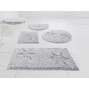 andas Badematte »Marie«, Höhe 13 mm, schnell trocknend, Baumwollmatte grau