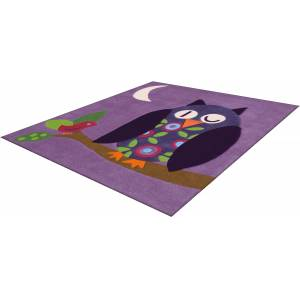 Arte Espina Kinderteppich »Joy 4049«, quadratisch, 16 mm Höhe, Eulen Design... lila