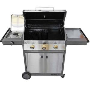 Cadac Meridian 3 Stainless Steel Gasgrill BBQ 3+1 Brenner 50mBar 12,5 kW