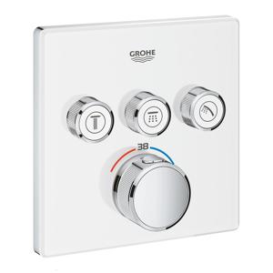 Grohe Grohtherm SmartControl - Unterputz-Thermostatarmatur für 3 Verbraucher chrom / mondweiß