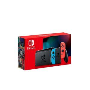 Nintendo SWITCH Switch Konsole Neonrot/Neonblau (neue Edition) transparent Unisex EG