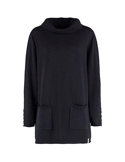 Deerberg Damen Pullover Laraina schwarz Sweatshirt - auch in Übergrößen
