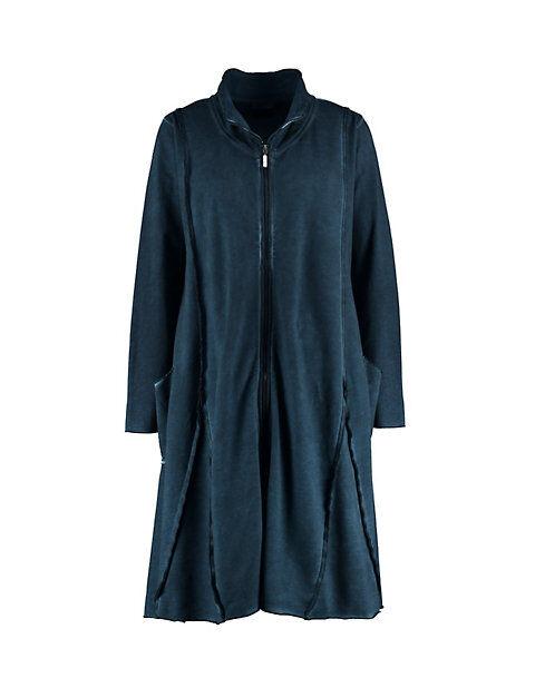 Deerberg Damen Sweat-Jacke Elsbe marine-washed - auch in Übergrößen