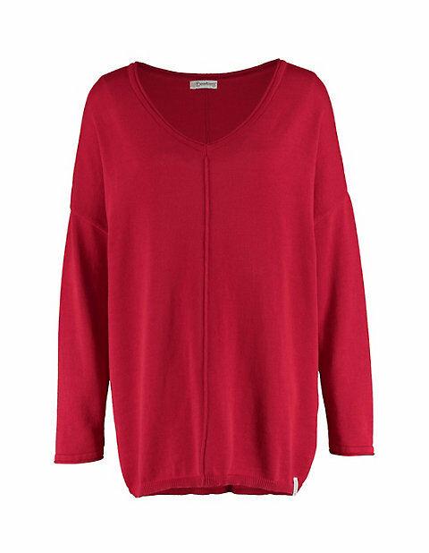 Deerberg Damen Pullover Svanja rot Sweatshirt - auch in Übergrößen