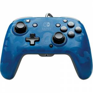 Performance Designed Products LLC PDP Wired Controller Faceoff Deluxe + Audio Nintendo Switch blau-camouflage