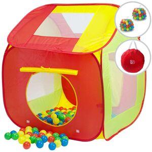 Spielwerk Kinderzelt Bällebad inkl. 400 Bälle Bunt