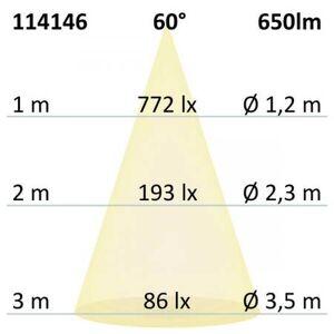 Fiai IsoLED LED Einbaustrahler schwenkbar silber 8W warmweiß 650lm 60° IP65 EEK:A+