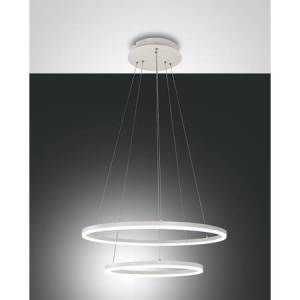 Fabas Luce Pendelleuchte Fabas Luce Giotto rund 52W LED 4680lm dimmbar weiß EEK:A