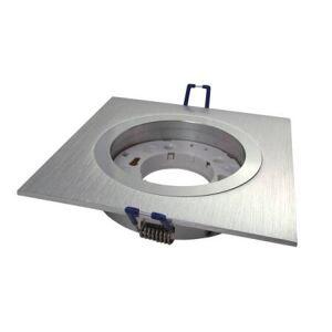 EVN Einbaufassung GX53 230V eckig Aluminium gebürstet Einbauleuchte