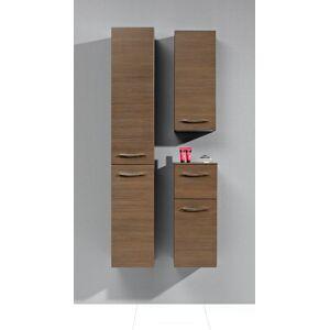 Artiqua Midischrank Serie 818, 73x30x30cm Anschlag links, Weiss Glanz, 1 Tür und 1 Schublade