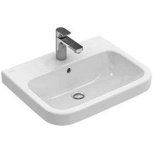 Villeroy und Boch Villeroy & Boch Architectura Waschtisch 418856T1 55x47, weiss AntiBac, mit Hahnloch, ohne Überlauf