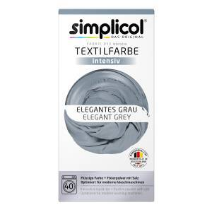Brauns-Heitmann GmbH & Co. KG simplicol intensiv Textilfarbe, Flüssige Farbe und Fixierpulver mit Salz, Farbe: Elegantes Grau