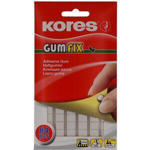 KORES Deutschland GmbH Kores GumFix Klebepads, Haftgummi für schnelles und sauberes befestigen von leichteren Gegenständen, 1 Packung = 84 Stück