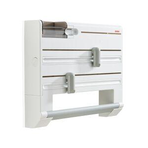 Leifheit AG LEIFHEIT Parat Plus Wandrollenhalter, Küchenrollenhalter mit integriertem Klebefilmspender, 1 Stück