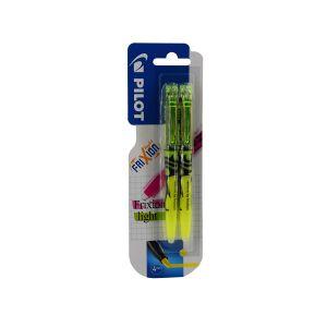 Pilot Pen (Deutschland) GmbH PILOT Frixion Light Textmarker, medium, Innovativer, radierbarer Farbstift mit mittlerer Spitze, 1 Packung = 2 Stück, gelb/gelb