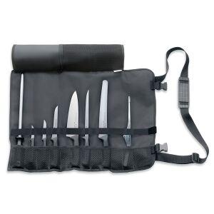 Friedr. Dick GmbH & Co. KG Dick Pro-Dynamic Starter-Set, 8-teilig, Rolltasche strapazierfähiges Obermaterial, Bestückung Qualitätsmesser, 1 Set, Farbe: schwarz