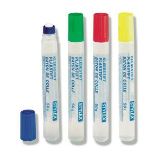 STYLEX Schreibwaren GmbH STYLEX® Klebestift, flüssig, Flüssiger Kleber mit Dosierschwamm für alle gängigen Bastelarbeiten mit Papier, 1 Stück, farbig sortiert, 50 ml