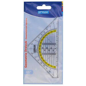 STYLEX Schreibwaren GmbH STYLEX® Geodreieck, Großes und transparentes Geodreieck zum Messen, 1 Stück