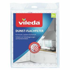 Vileda GmbH Vileda Dunst-Flachfilter, Frische und saubere Küchenluft dank dem Abzugshaubenfilter, 1 Packung = 2 Stück