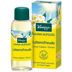 Kneipp GmbH Kneipp® Lebensfreude Sauna-Aufguss , Belebender Sauna-Konzentrat aktiviert Körper und Geist an tristen Tagen, 100 ml - Flasche