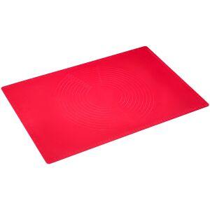 Westmark GmbH WESTMARK Teig-Ausrollmatte, Silikon, rot, Unterschiedliche Kreis-Reliefs helfen passgenaue Kuchenböden auszurollen, 1 Stück