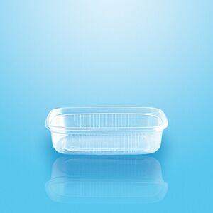 PAPSTAR Vertriebsgesellschaft mbH & Co. KG Verpackungsbecher mit Deckel PP eckig 125 ml, 2,9 cm x 8,9 cm x 11,4 cm, transparent, 1 Packung = 50 Stück