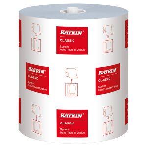 Metsä Tissue KATRIN Classic System M2 Papierhandtuchrolle, 2-lagig, blau, Handtuchrolle für mechanischen Spender, 1 Karton = 6 Rollen